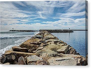 Oceanside Jetty Canvas Print
