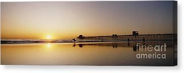 Oceanside Pier, California Canvas Print by Bill Schildge - Printscapes