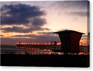 Canvas Print featuring the photograph Oceanside Pier by Christopher Woods