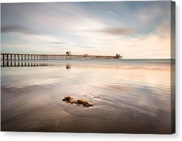Canvas Print featuring the photograph Oceanside Pier Pastels by Alexander Kunz