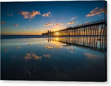 Oceanside Pier Reflections Canvas Print