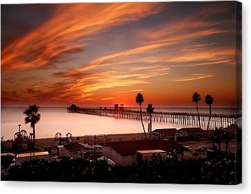 Oceanside Sunset 10 Canvas Print by Larry Marshall