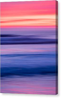 Oceanside Sunset #4 - Abstract Photograph Canvas Print by Duane Miller