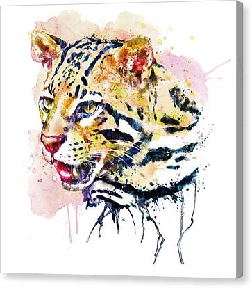 Ocelot Head Canvas Print by Marian Voicu