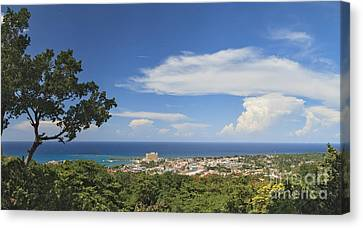 Ocho Rios From Ysassis Lookout Point Canvas Print by Charles Kozierok