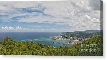 Ocho Rios Panorama From Mystic Mountain Canvas Print by Charles Kozierok