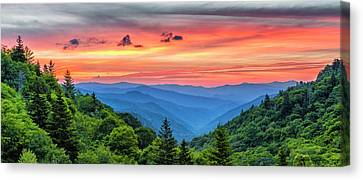 Oconaluftee Valley Sunrise Canvas Print