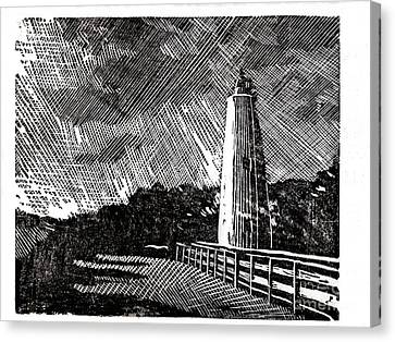 Ocracoke Island Lighthouse II Canvas Print by Ryan Fox