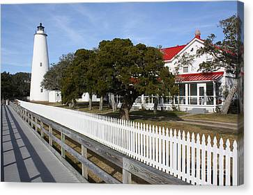 Ocracoke Lighthouse Canvas Print