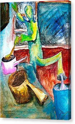 Octavius The Cook Canvas Print by Contemporary Art By PEARSE