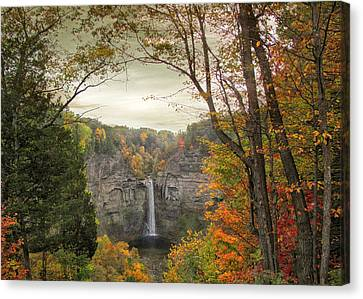 October At Taughannock Canvas Print by Jessica Jenney