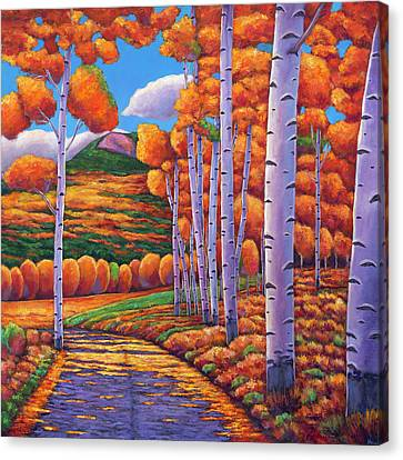 Taos Canvas Print - October Enclave by Johnathan Harris