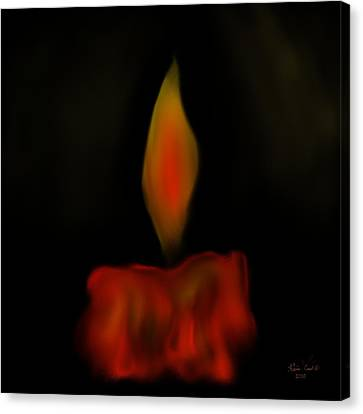 October Flame Canvas Print by Kevin Caudill