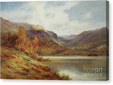 October In The Highlands Canvas Print by Alfred de Breanski