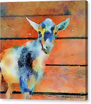 October Kid Canvas Print by Michele Ross