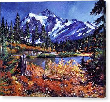Lake Washington Canvas Print - October Lake - Mount Shuksan by David Lloyd Glover