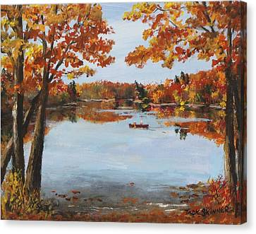 Concord Ma Canvas Print - October Morn At Walden Pond by Jack Skinner