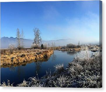 Canvas Print featuring the photograph October Morning by Victor K
