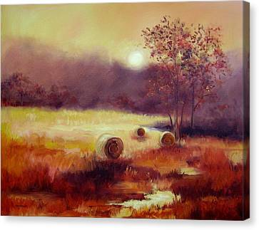 October Pasture Canvas Print by Ginger Concepcion