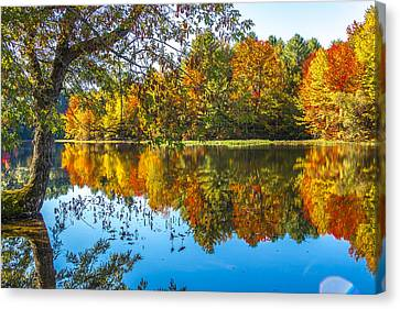 October Reflection Canvas Print