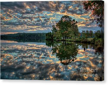 Canvas Print featuring the photograph October Skies by Douglas Stucky
