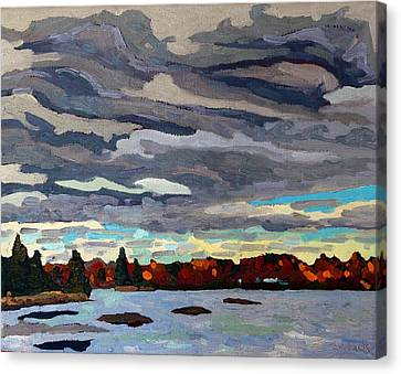 October Sky 2014 Canvas Print by Phil Chadwick