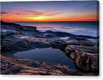 October Sky At Pemaquid Point Canvas Print