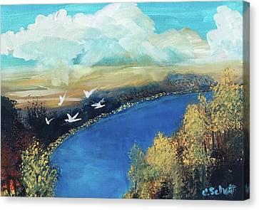 October Sky Canvas Print