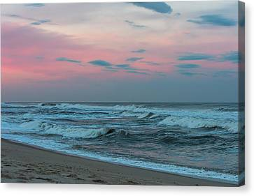 October Sky Seaside Jersey Shore Canvas Print by Terry DeLuco