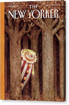 Clown Canvas Print - October Surprise by Carter Goodrich
