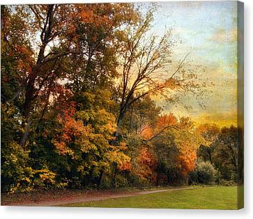 October Trail Canvas Print by Jessica Jenney