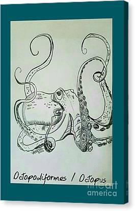 Octopodiformes Octopus Canvas Print by Scott D Van Osdol