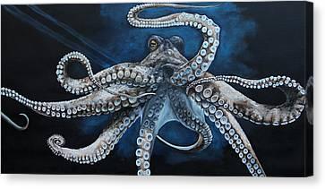 Octopus Canvas Print - Octopus by Alyssa Rosales