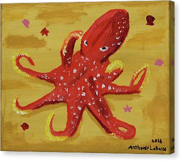 Octopus Canvas Print by Anthony LaRocca