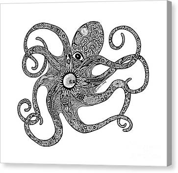 Octopus Canvas Print by Carol Lynne