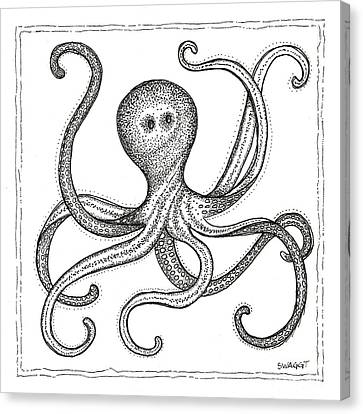 Octopus Canvas Print by Stephanie Troxell
