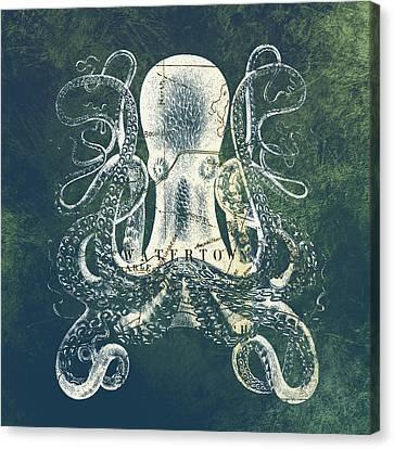 Octopus Watertown Mass Canvas Print