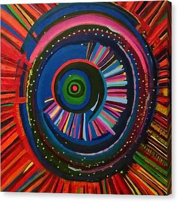 Daina Canvas Print - Ocular Energy Path by Daina White