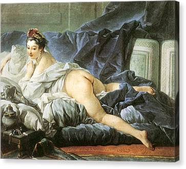 Bed Spread Canvas Print - Odalisque 1745 by Francois Boucher
