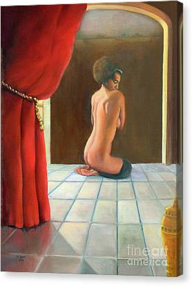 Canvas Print featuring the painting Odalisque 2016 by Marlene Book