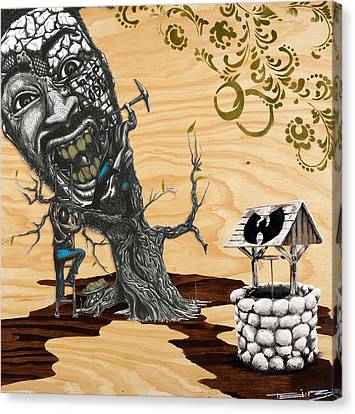 Odb Tree Mining Down By The Wu-tang Well Canvas Print by Tai Taeoalii