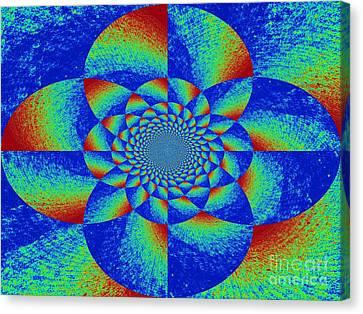 Oddly Mandala Canvas Print by Chuck Taylor