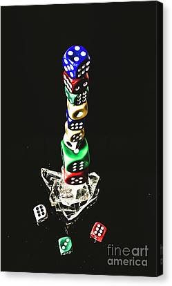 Odds Stacked Up Canvas Print