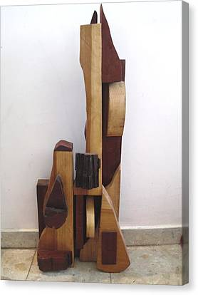 Canvas Print featuring the sculpture Ode To A Guitar by Esther Newman-Cohen