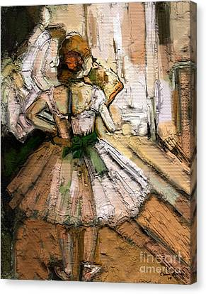 Canvas Print featuring the painting Ode To Degas by Carrie Joy Byrnes