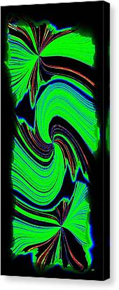 Canvas Print featuring the digital art Ode To Green by Will Borden