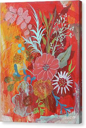 Canvas Print featuring the painting Ode To Spring by Robin Maria Pedrero