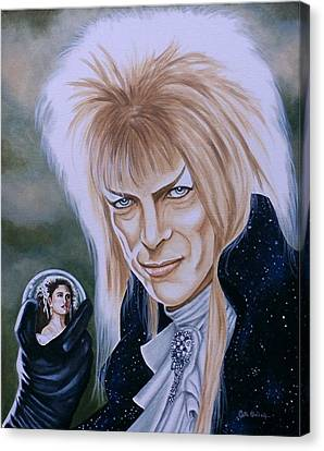 Canvas Print featuring the painting Ode To The Goblin King by Al  Molina