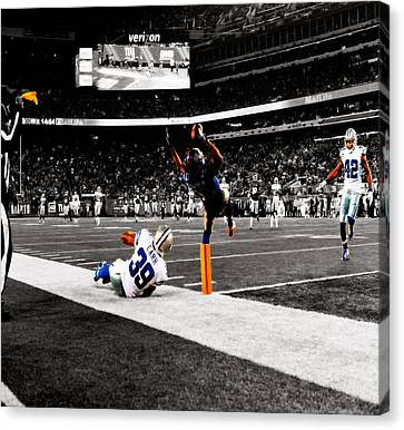 Odell Bechham 3c Canvas Print by Brian Reaves