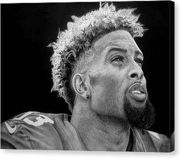 Odell Beckham Jr. Drawing Canvas Print by Angelee Borrero